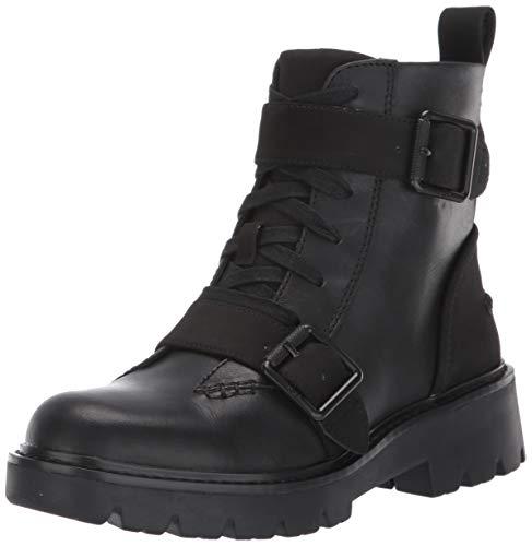 UGG Women's NOE Combat Boot, Black, 5 M US