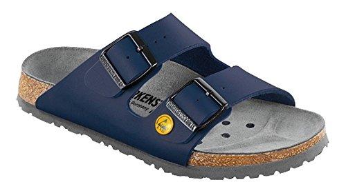 BIRKENSTOCK 89430 normales Fußsbett ESD Berufsschuh Arizona Antistatik Birko-Flor - Blau - Gr. 41