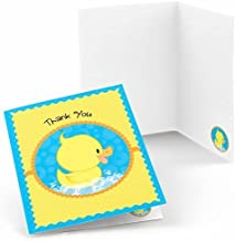 Big Dot of Happiness Ducky Duck - Baby Shower or Birthday Party Thank You Cards (8 Count)