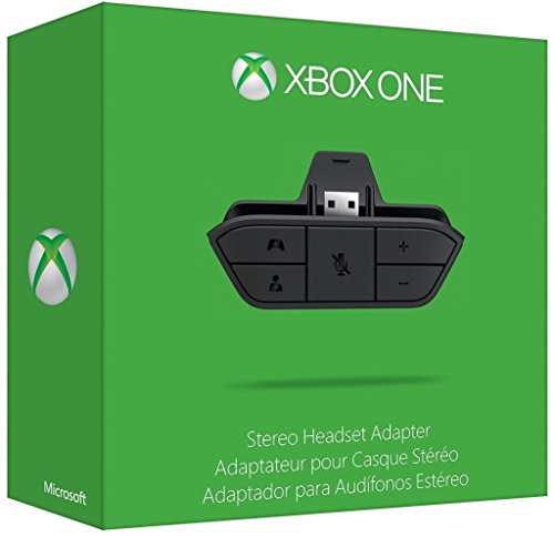 Auricular Audio Micrófono Stereo Adaptador de Auriculares para Mando Xbox One, Negro