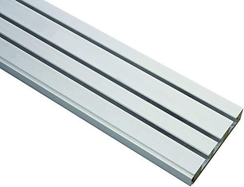 Gardinia Vorhangschiene GE3, 3-läufig, Farbe: weiß, Länge: 210 cm