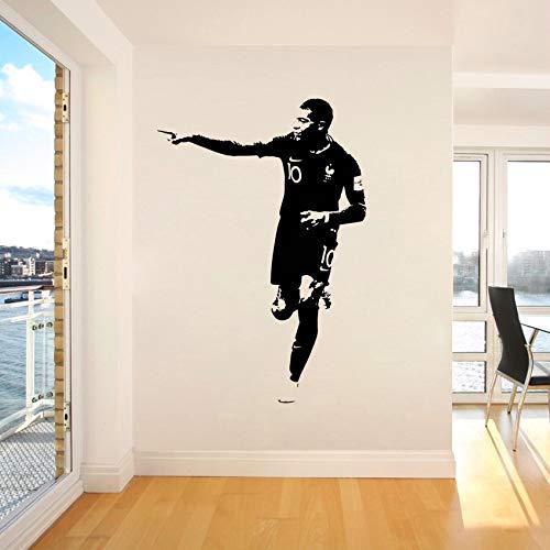 Vinyl Kunst Aufkleber Wandaufkleber Frankreich PSG Kylian Mbappé Fußball Sport Junge Schlafzimmer Dekoration Berühmte Fußballspieler Star Poster Kinder Geschenk
