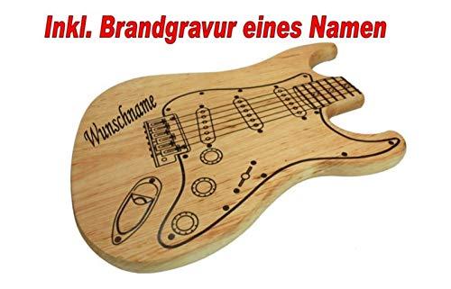 Brotzeitbrett Vesperbrett Schneidebrett Frühstücksbrett in Form Einer E Gitarre