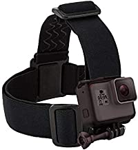 Head Strap Mount with Screw, Wearing Headband Belt Holder for Gopro Hero 9/8/7/6/5 Black, APEMAN, Campark, Victure, Crosstour Sports Camera Accessories