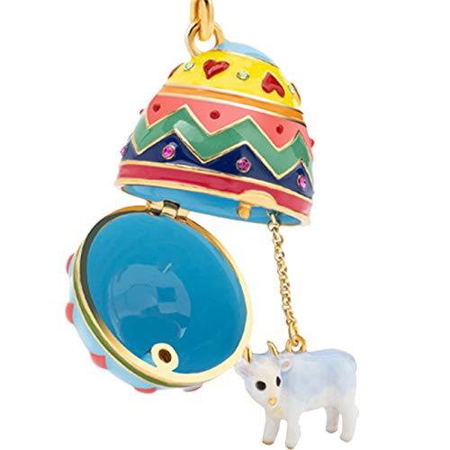WYYUE Mädchen Halskette Guarding Charm Anhänger Künstliche handbemalte Emaille, vergoldet Handwerk für Frauen für Armbänder Halskette Geschenk für Sie,Cattle