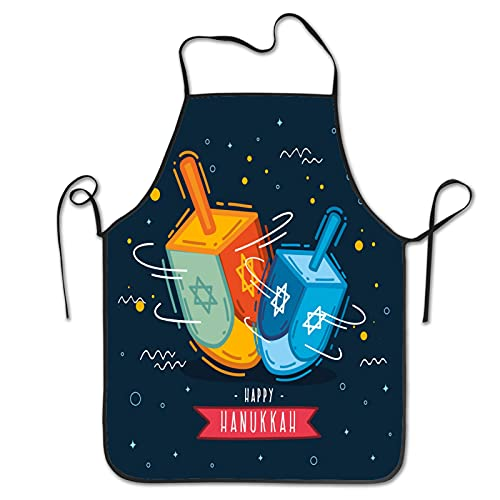 Hand drawn hanukkah concept Aprons for Men Women for Grilling Cooking Chef Kitchen Crafting BBQ Outdoors