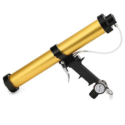 Zylinder Druckluft Kartuschenpistole-TopSer YJQ-01 48 cm 600 ml Air Kartuschenpistole mit 450 mm Aluminium Schaft für 310 ml,400 ml,600 ml Wurst Gummi Kleber
