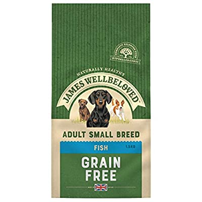 James Wellbeloved Complete Dry Adult Small Breed Dog Food Fish and Vegetables, 1.5 kg