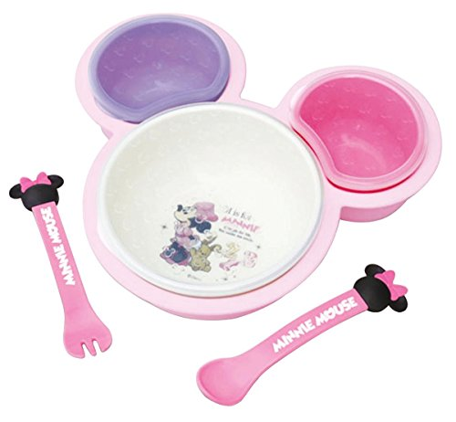 錦化成  離乳食に ベビー食器 片手で持てる離乳食パレット ミニーマウス