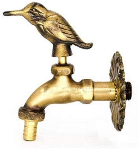 Garden Tap Faucet Basin Faucet Outdoor Garden Faucet Animal Shape Bibcock Green/Antique Brass Faucet for Washing Mop/Garden Watering Animal Faucet