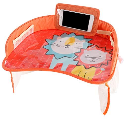 Bozaap Baby Car Plateaux, Snack Play Plateaux avec Poches en Filet, Seat Travel Tray avec Support de téléphone pour Tablette Plateau de Jeu pour Enfants pour Voiture/Poussette/Avion