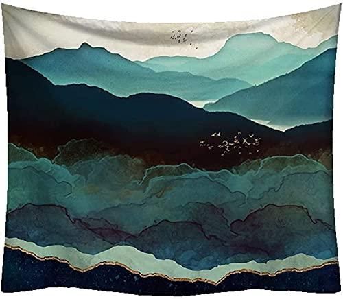 RENYC Tapices Decorativos Tapicería Tapicería Tapiz Puesta de Sol, Color Mountain Wall Tapicería Manteles de tapicería/Cubierta de Cama, Naturaleza Bosque Tape Tapicería Cuelga