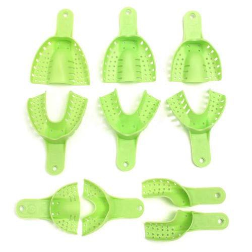 BONEW 10x Dental Impression Trays Plastic Tray Time sale Tooth Shape Tee U 5% OFF