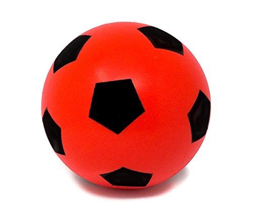E-Deals 20cm Rot Fußball | Indoor / Outdoor Soft Sponge Foam Soccer Ball Großer Spaß für Erwachsene und Kinder Jungen und Mädchen