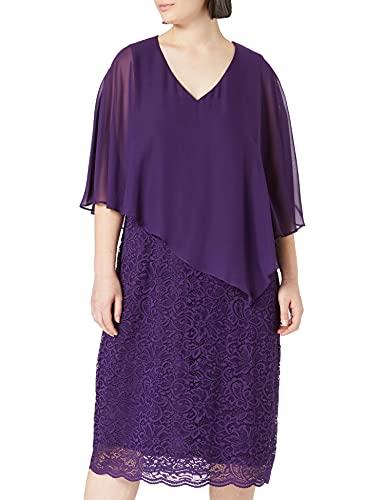 Ulla Popken Damen Abendkleid Brautmutterkleid, Tintenblau, 50+
