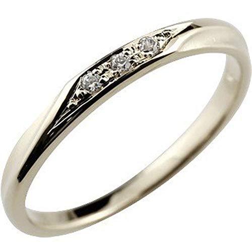 [アトラス]Atrus リング レディース pt900 プラチナ900 ダイヤモンド 指輪 つや消し 4月誕生石 ピンキーリング 1号
