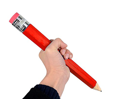 NICE PURCHASE Big Pencils For Kid Giant Wooden Jumbo Pencil So Cool (Red)