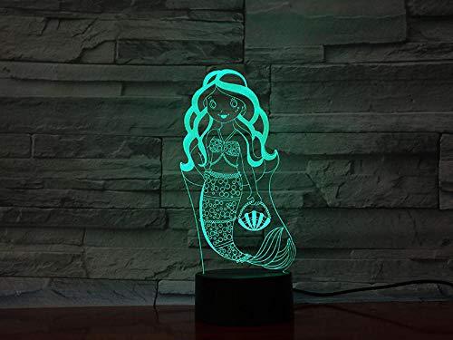 Luz De Ilusión 3D-Luz De Noche De Peces Oceánicos 3D Lámpara Led Lámpara De Humor Lámpara De Decoración Luz De Noche Para Niños Juego Regalos-Control Remoto