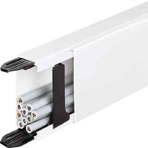 Hager LF4006009001 Kabelkanal Elektroinstallationskanal (L x B x H) 2000 x 57 x 40mm 1 St. Creme-Wei