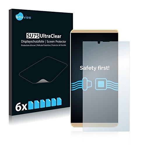 Savvies 6X Schutzfolie kompatibel mit Allview V2 Viper X+ Bildschirmschutz-Folie Ultra-transparent
