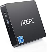 Mini PC Intel Atom Z8350 Windows 10 Pro Mini Computer 4GB DDR 64GB eMMC,Support 4K HD,2.4G/5G WiFi AC, 2.5 inch SSD,Bluetooth,1000Mbps Ethernet