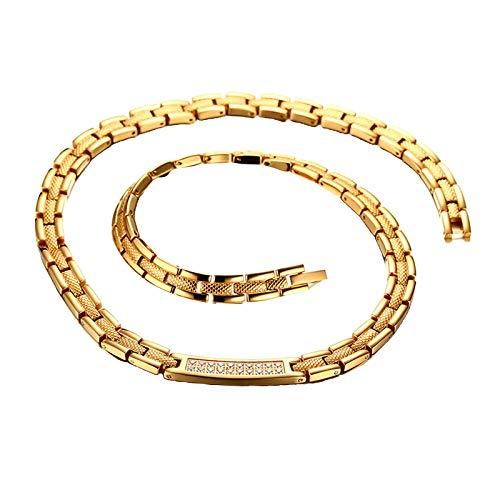 Generic Colar Magnético de Ouro Masculino para Alívio Da Dor Da Moda Enxaqueca Natural