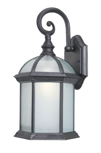 Woodbridge Lighting 61030WL-BKP Outdoor Light, Small, Powder Coat Black