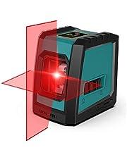 RockSeed Kruislijnlaser, kruislijnlaser met meetbereik 15M, schakelbare zelfnivellerende verticale horizontale lijn, 360 graden draaibaar met flexibele magnetische voet, inclusief batterij, IP 54