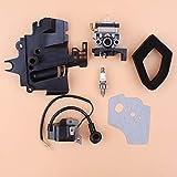 Tiempo Beixi La Ingesta carburador Kit Filtro múltiple de la Bobina de Encendido de Aire for Honda GX35 HHT35S UMK435 35CC Small Engine Motor de la Recortadora Desbrozadora