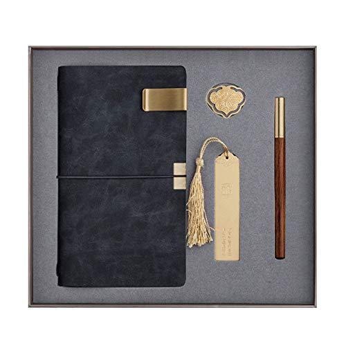 langchao notebook set termo taza bluetooth audio USB pen regalo de empresa regalo práctico LDA-07 negro