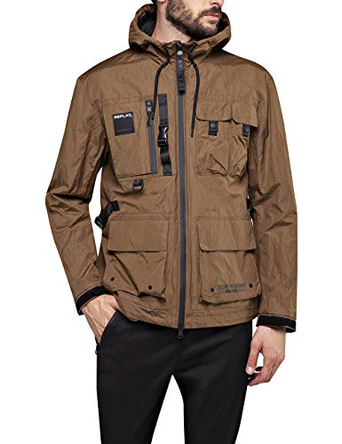 REPLAY M8054 .000.83574 Giacca, Marrone (Brown 401), Small Uomo