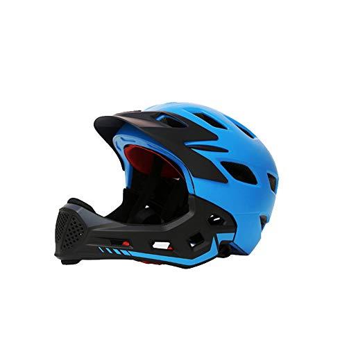 Best Buy! DNDZSW Children's Bicycle Riding Helmet Children's Slide Balance car Speed Skating Mountain Full face Helmet Detachable,B