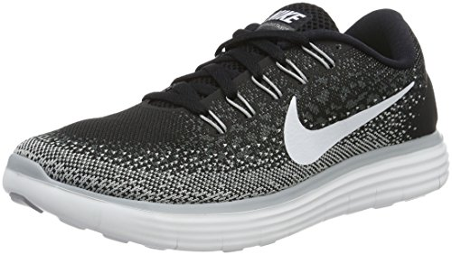 Nike Womens Free Rn Distance Black/White/Dark Grey/Wlf Grey Running Shoe 6 Women US
