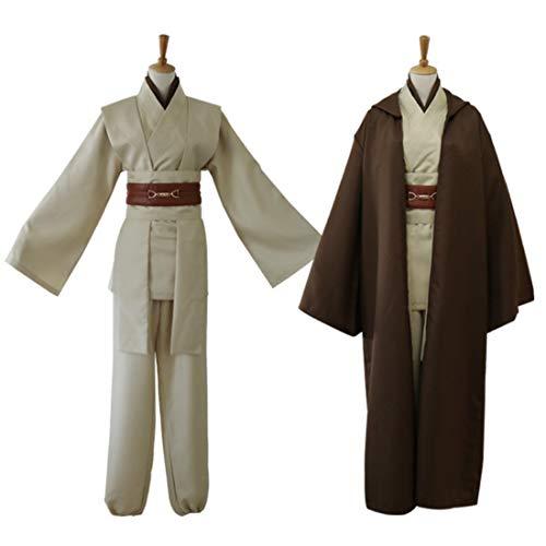 Seciie Kostüm für Star Wars Skywalker Kostüm Jedi Kostüme für Erwachsene Herren - S