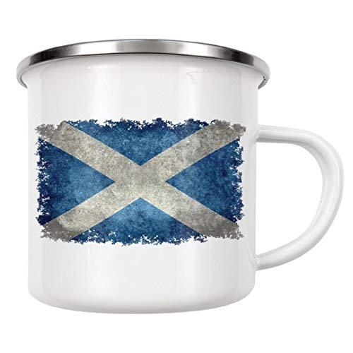 artboxONE Emaille Tasse Flag of Scotlande von Bruce Stanfield - Emaille Becher Reise