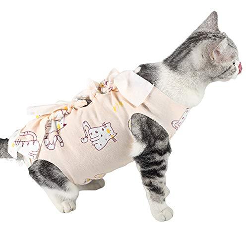 DC CLOUD Camisetas para Perros Pijamas para Perros Pequeños Chaleco para Perro después de la cirugía Gatos Ropa Perro bebé Crece después de la cirugía Cat,Large