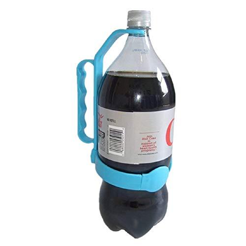 Universal Flasche Griff | Fügt Flaschengriff hinzu | Einfache Handhabung großer PET-Flaschen universal einstellbar für Trinkflaschen Geeignet für Zuhause Restaurants Bars (One Size, Blau)