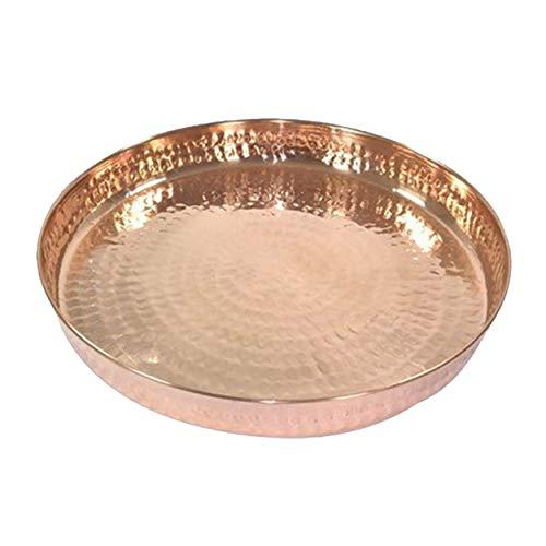El cobre puro martilló la cena Set Thali Plate Serveware Vajilla del hotel