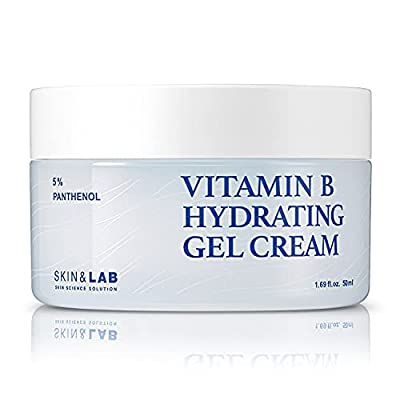 SKIN & LAB Vitamin B5 hydrating gel cream for Face with Hyaluronic Acid and Ceramide | Fast-Absorbing, Non-Greasy | Moisturizing Face Cream for Acne Prone, Sensitive Skin 50ml | 1.69oz.