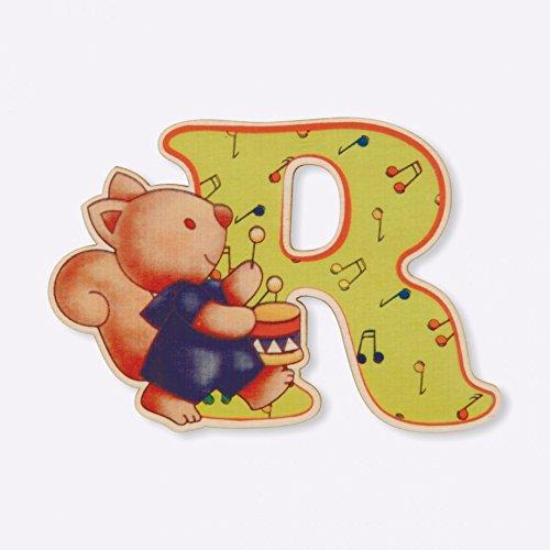 Dida - Lettre R Bois Enfant - Lettres Alphabet Bois pour Composer Le nom de Votre bébé et décorer la Chambre
