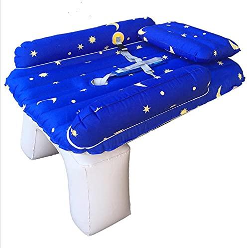 PDVCB Colchón de Coche de Viaje bebé, Cama Inflable del Coche Infantil, durmiendo en la Parte Posterior de la Fila del Coche