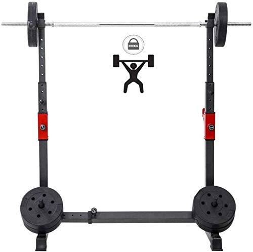 IJNBHU Kniebeugen-Ständer Squat-Rack Schwarz,Max. Belastung 300 Kg, Verstellbare Squat-Ständer Power Weight Bench Support Home Gym Krafttraining Stand Fitness