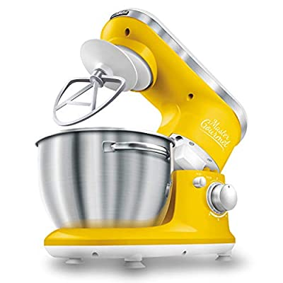 Sencor Stand Mixer 300W with Pouring Shield, Yellow