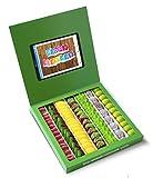 Caja golosinas Whatsapp 23x23cm con mensaje HAPPY BIRTHDAY, su interior contiene 750g de golosinas Fruit