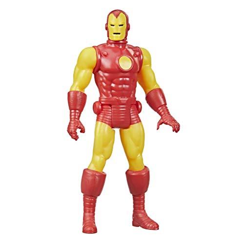 Hasbro Marvel Legends - Figura de Iron Man de 9.5 cm - Colección Retro 375