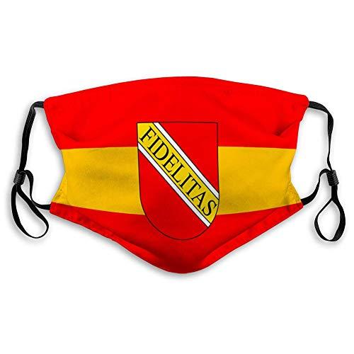 Gedruckte Mas-Ke für Erwachsene Kinder Flagge der Stadt Karlsruhe in Baden Württemberg Unisex Mas-Ke