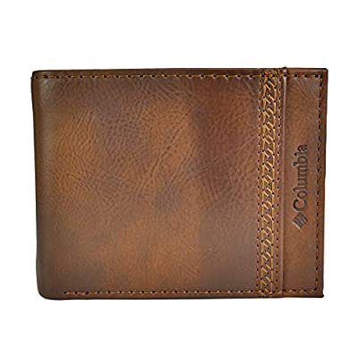 Columbia Men's RFID Blocking Passcase Wallet, Tan Tabor, One Size