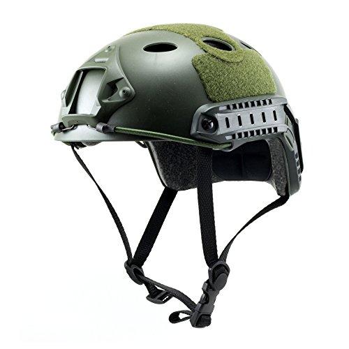 Tactical Crusader Casco táctico y Ligero, Verde, Fully Adjustable