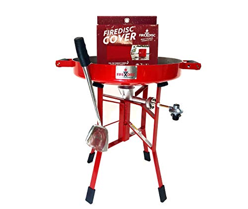 """Ultimate Backyard Bundle, 24"""" Deep Short Portable Propane Cooker Red, Ultimate Cooking Weapon, Fireman Red Cover Grills Propane"""