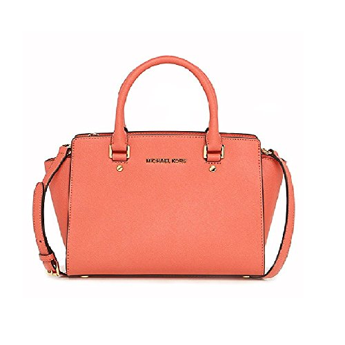 Michael Kors - Selma Saffiano Leather Medium Satchel, Borsa con Maniglia Donna